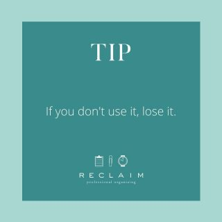 """...and by lose it we mean donate, give to a friend, or toss it! 👋🏼  Holding on to items """"just in case"""" rarely pays off; most of the time it just means you're keeping STUFF you will never use or need. 🚫  We give you permission to banish all your what-ifs and get rid of things you don't use! 🙌🏼"""