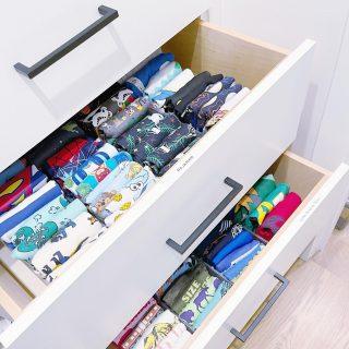 File folding + drawer organizers + labels 💯