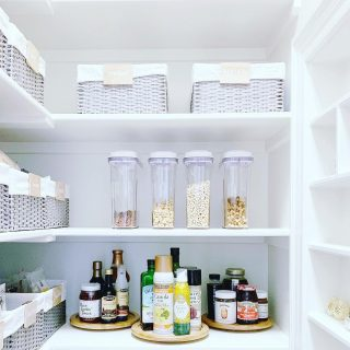 We love creating picture perfect pantries! Swipe to see the before!