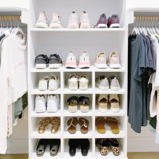 A favorite shot from when we helped @claireguentz organize her beautiful closet last summer 😍   Have you seen her latest reel discussing the 3 best tips she learned from working with a professional organizer? 👀   We are such proud teachers! 🍎